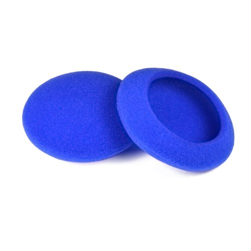 Synsen 5 Pairs 50mm(2inch) Quality Replacement Ear Pad Foam Earbud Sponge Cover Cushions for Sennheiser PX100 / Sony MDR-G57 / Philips/Plantronics & Other Headphones (50mm, Blue)