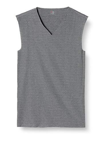 [グンゼ] インナーシャツ YG CUT OFFシリーズ Vネックスリーブレス YV1518 メンズ ブラックモク 日本L (日本サイズL相当)
