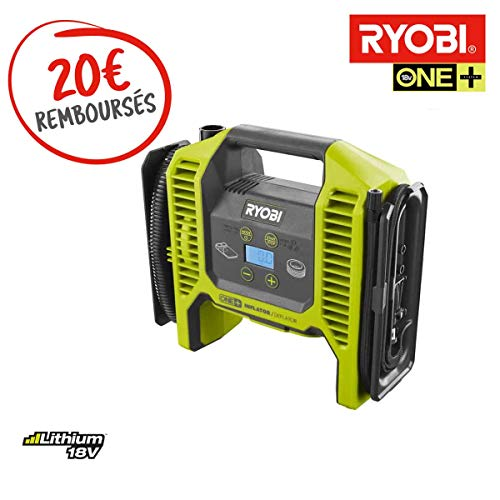 Ryobi Luftpumpe, Kompressor, 18 V, ohne Akku und Ladegerät R18MI-0