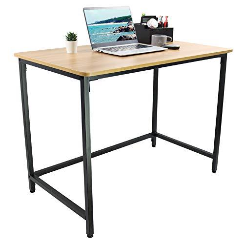 KKTONER Gran Escritorio, Mesa de Ordenador, Mesa de Estudio, Mesa de Comedor para el hogar, Oficina, Montaje fácil (Madera Natural)