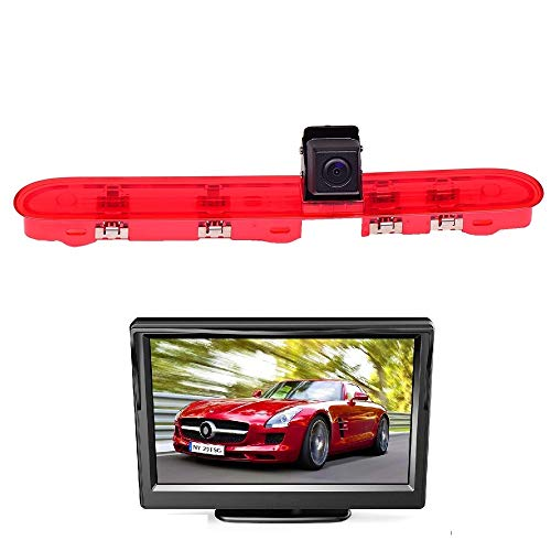 HD 720p auto derde dak Top Mount remlicht camera remlicht achteruitrijcamera voor Peugeot Expert Citroen Space Tourer Toyota ProAce Verso +5,0 inch dvd-monitor TFT-beeldscherm vrachtwagen LCD display