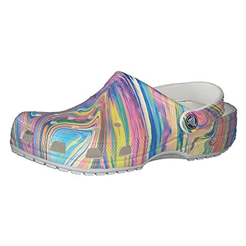 Crocs Classic Tie Dye Clog, Obstruccin Unisex Adulto, Remolino Pastel, 38/39 EU