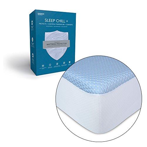 Leggett & Platt Sleep Chill + Crystal Gel Mattress Protector with Cooling Fibers and Blue 3-D Fabric, Queen thumbnail image