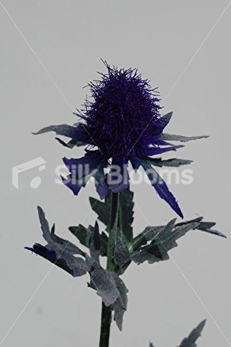 Silk Blooms Ltd Artificial Purple Scottish Sea Holly Thistles, Purple Thistles