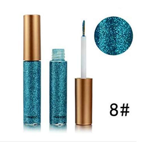EgBert Glitter Eyeliner Liquid Makeup Augen Liner Wasserdicht Gold Grün Shinning Diamant Pigmentiert Halloween - 8