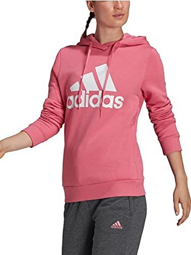 adidas W BL FL HD Sweatshirt, Rose Tone/White, L Women's