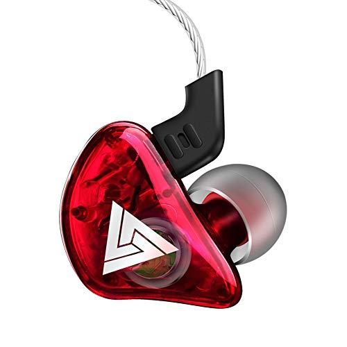 GKJ Ear Auriculares estéreo Transparentes, el Ruido Auriculares aislantes y Hi-Fi Sound, con Suave y Tapones cómodo e Ideal para iPhone, iPad, Smartphone, Reproductores de MP3, etc,F