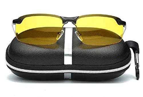 CICADAS Polarizzato Occhiali per Visione Notturna,HD Anti-riflesso Occhiali di Protezione Polarizzati,Protezione UV400 per Guida,Ciclismo,Sci, Equitazione,Ultra Light per Uomo E Donna