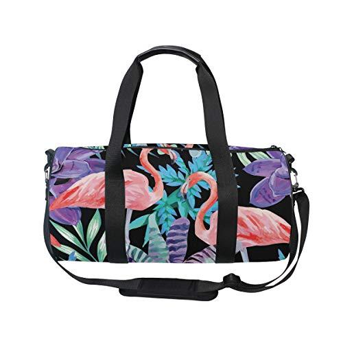 MNSRUU Flamingo-Aquarell-Reisetasche, Unisex, hohe Kapazität, großes Gepäck, Sport, Turnbeutel