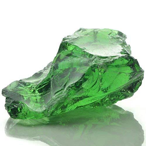 Nishore Gabionensteine aus Glas mit diesen leuchtgrünen Steinen 60-120 mm 25 kg für Gabionen, Steinkörben und -wänden