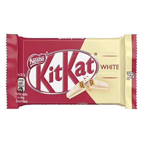 NESTLÉ KITKAT WHITE Snack con wafer ricoperto di cioccolato bianco 3 snack da 41,5g - [confezione da 8]
