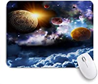 NIESIKKLAマウスパッド Galaxy Theme Nebula Universe planets magical fantasy sky ゲーミング オフィス最適 高級感 おしゃれ 防水 耐久性が良い 滑り止めゴム底 ゲーミングなど適用 用ノートブックコンピュータマウスマット