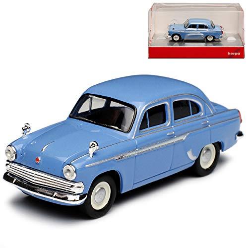 Moskwitsch 403 Limousine Blau DDR 1962-1967 H0 1/87 Herpa Modell Auto