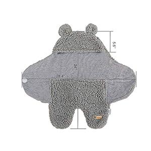 BlueSnail Newborn Receiving Blanket Baby Sleeping Wrap Swaddle(Light Gray)