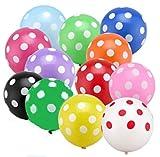 Smart Picks Birthday Party Multi-Color Polka Dot Balloons - Pack of 50
