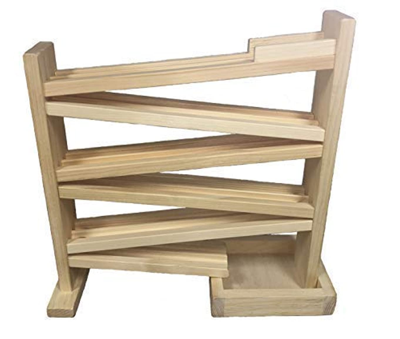 Marble Roller Double Track, Amish-Made, Handcrafted Wooden Marble Run