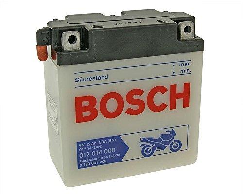 Batterie BOSCH 6N11A-3A 6 Volt - MZ/MUZ TS 150 Bj. 1973-1985 [ inkl.7.50 EUR Batteriepfand ]
