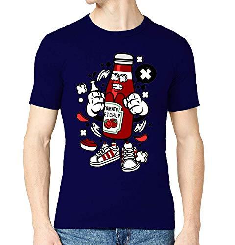Iprints Cartoon Style Tomato ketchup Food Lover Sauce T-shirt voor heren