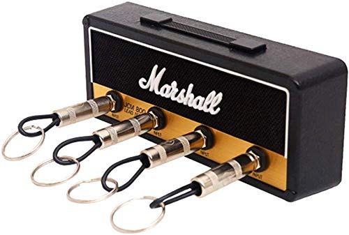 Delisouls Klassischer Gitarrenverstärker Schlüsselhalter, Wandmontage Schlüsselanhänger Aufhänger E-Gitarre Schlüssel Haken Aufbewahrung für Pluginz JCM800 Klinkenstecker Rack - B