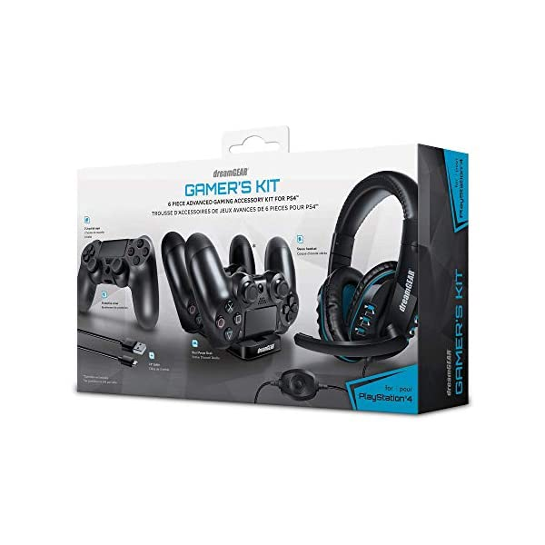 dreamGEAR – Gamer's Kit – includes charge dock/sync cable/headset/silicone...