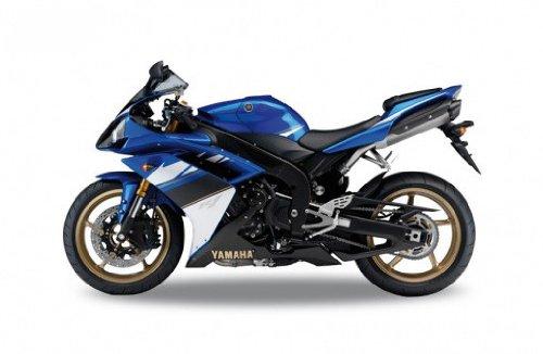 2008 Yamaha YZF-R1, blau,Welly Motorrad Modell 1:18