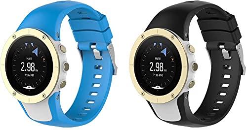 Correa de Reloj de Silicona Suave Compatible con Suunto Spartan Trainer Wrist HR, Repuesto Ideal (Pattern 4+Pattern 5)