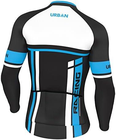 New Mens Winter Riding Clothing Gear Fleece Jersey Jackets Thermal Bib Pants Set
