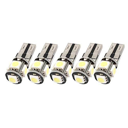 W5 W T10 5050 5-smd LED Voiture ampoule lumière blanc 10 Pack10pcs Super Bright sans erreur W5 W T10 194 T10 5050 5smd ampoules LED Blanc RE