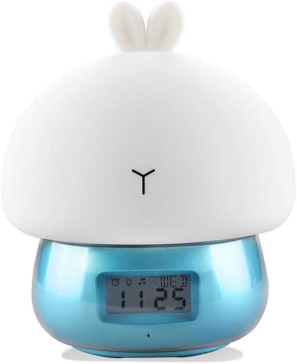 PLJHWW Max 71% OFF USB LED Night Light Alarm Clock Cute Smar Max 88% OFF Multifunctional