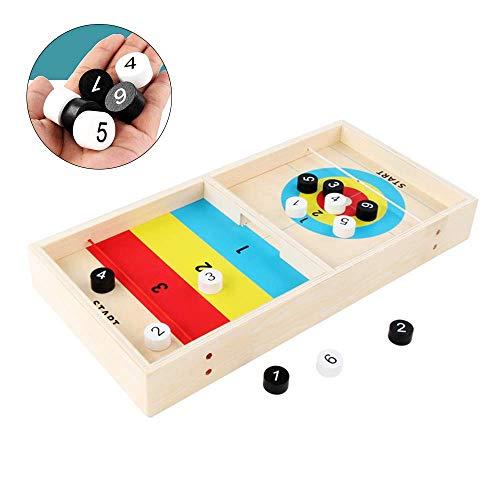 Table Top Curling Board Set Houten Ouder-Kind Interactive Curling Ball Tafels Spel Voor Family Portable Team Board Tafelblad Games