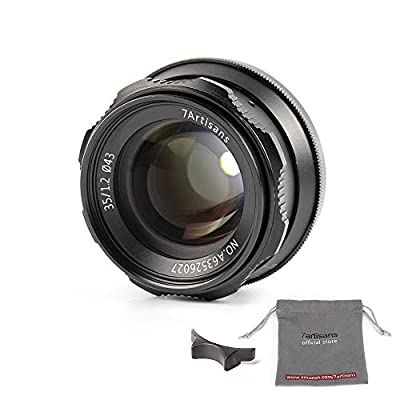 7artisans 35mm F1.2 APS-C Manual Focus Lens Widely Fit for Compact Mirrorless Cameras Fuji X-A1 X-A10 X-A2 X-A3 A-at X-M1 XM2 X-T1 X-T10 X-T2 X-T20 X-Pro1 X-Pro2 X-E1 X-E2 E-E2s by 7artisans