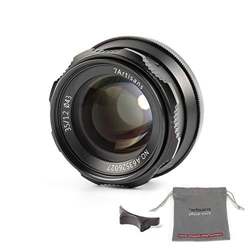 7artisans 35 mm F1.2 APS-C, Focus manuale ampia vestibilità per fotocamere compatte mirrorless M4/3 Mount Panasonic G1 G2 G3 G4 G5 G6 g7 GF1 GF2 GF3 G