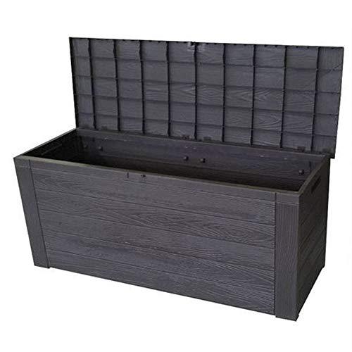 Importacion Coffre de Rangement en Plastique Effet Bois 120 x 45 x 57 cm