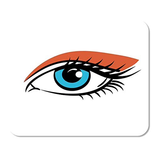 Mousepad Computer Notepad Büro Blau Make-up Auge auf Augen Frau Der Mensch Orange Home School Game Player Computer Worker Inch