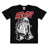Logoshirt - Star Wars - Robot - R2-D2 - Camiseta ecológico para niño - Negro - Diseño Original con Licencia, Taglia 104, 3-4 años