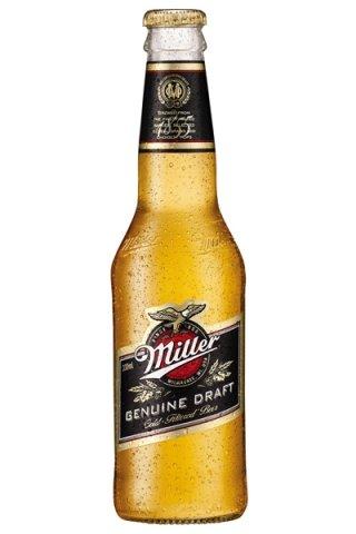 24 Flaschen Miller Genuine Draft a 0,33L inc. 6.00€ EINWEG Pfand Beer Glas