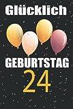 Glücklich Geburtstag 24: Geschenkideen jungs mädchen geburtstag 24 jahre,Geburtstagsgästebuch zum 24, Alles gute zum 24 jährigen jubiläum, Geburtstagsgeschenk für Paar, Kind, Frau, Mann