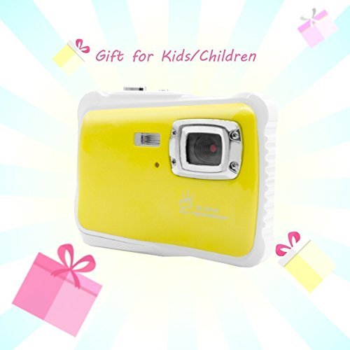 Vmotal Digital Camera NEWAP5262YW Waterproof Camera for Kids with 2.0 inch TFT Display (Yellow)