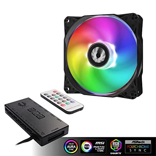 BitFenix Spectre SE ARGB LED Fan and Controller Kit Black Triple Pack -...