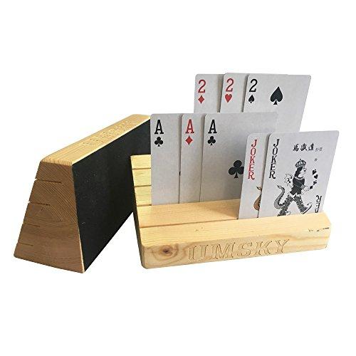 UMsky Supporto di legno Scheda di gioco / basamento / cremagliera set di due, finitura naturale