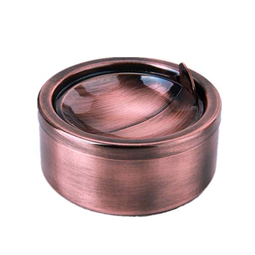 Zaoniy Stainless Steel Ashtray with lid, Cigarette Ashtray for Indoor or Outdoor...