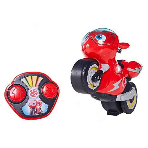Ricky Zoom Remote Control Turbo Trick Ricky – Remote Control Motorcycle Races, Performs Wheelies & 360 Degree Stunt Spins, Multi