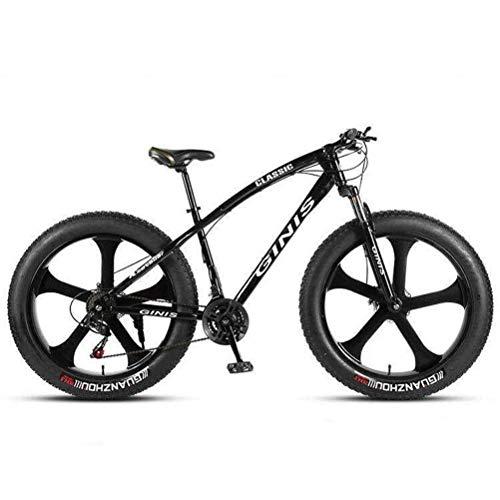 Tbagem-Yjr Doble Suspensión Bici - Montar En Bicicleta De Montaña For Hombre De Amortiguación MTB Fuera De Carretera Bicicleta De La Ciudad De 26 Pulgadas (Color : White, Size : 24 Speed)