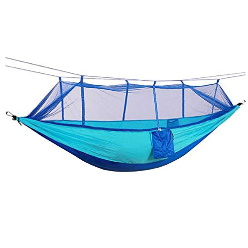 SHYOMEN 260 x 140 cm Outdoor Hammock Camping with Mosquito net Double Camping Hammock air Tent Portable Parachute Nylon Hammock for Camping, Backpacking (4#)