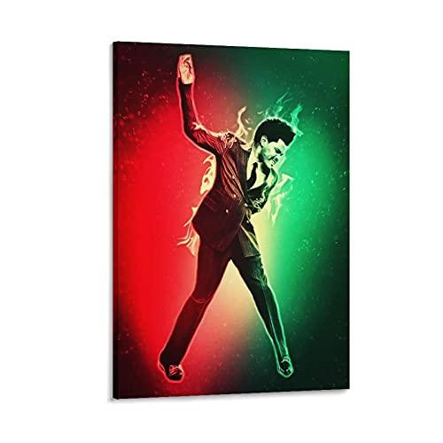 Jiandan The W.e.e.k.n.d XO Starboy Poster Stampa The Weekend Trilogy Rap Rock Hip Hop DJ (38) Poster decorativo su tela da parete per soggiorno, camera da letto, 40 x 60 cm
