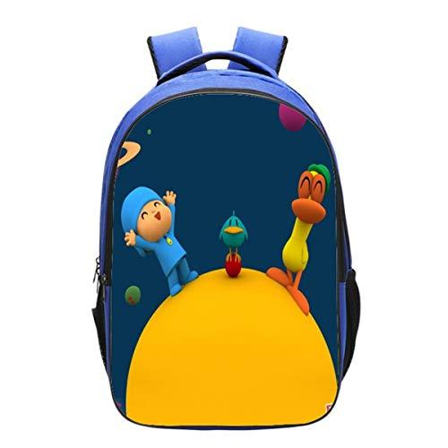 GD-Clothes Kids Pocoyo Backpack-Girls Back to School Bookbag School Backpack-Backpacks for Outdoor,Travel,School
