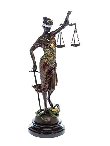 Estatua Justicia de Bronce de la Escultura Estilo Antiguo - 40cm