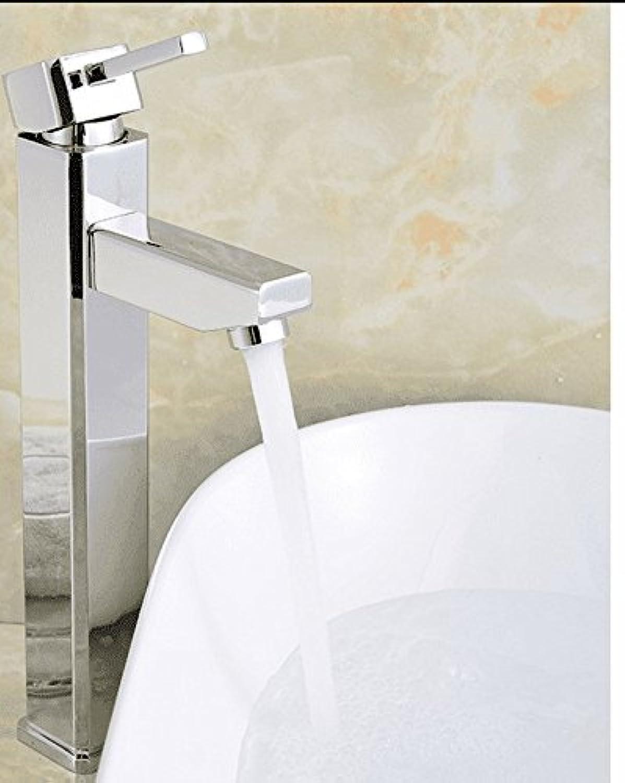 ETERNAL QUALITY Badezimmer Waschbecken Wasserhahn Messing Hahn Waschraum Mischer Mischbatterie Einzelne Bohrung Waschbecken Wasserhahn Bad hei und kalt - Wassertank TIPP