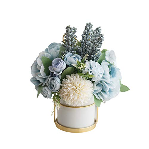Newrys Wedding Romantic Bride Bridesmaid Basket, Artificial Rose Fake Flower Bonsai Potted Plant Garden for Vintage and Village Wedding Ceremony Bridal Party 2
