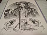 ALICE COOPER !! LIMITED EDITION PRINT 11' By 17' 'THE ART OF DAVE NESTLER 'approved Dealer